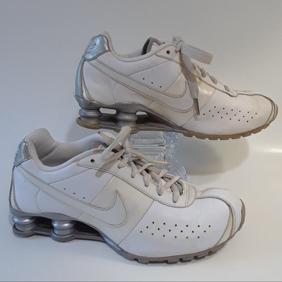 Nike Shoes | Shox White Leather Womens
